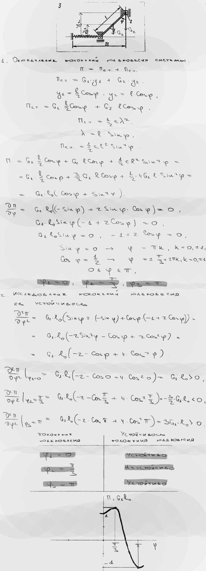 Яблонский задание Д2..., Задача 15254, Теоретическая механика