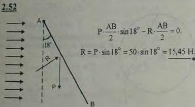 Однородная прямоугольная пластинка веса 50 Н подвешена так, что может свободно вращаться вокруг горизонтальной оси, п..., Задача 2655, Теоретическая механика