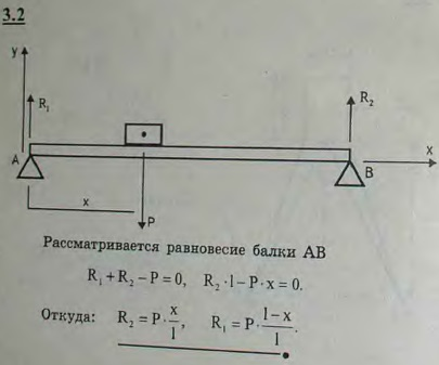 Определить вертикальные реакции опор горизонтальной балки пролета l, если груз P пом..., Задача 2660, Теоретическая механика