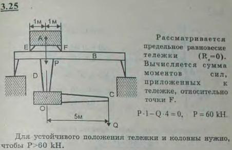 Кран для загрузки материалов в мартеновскую печь состоит из лебедки A, ходящей на колесах по рельсам, уложенным на балках передвижного моста B. К нижней части л..., Задача 2683, Теоретическая механика