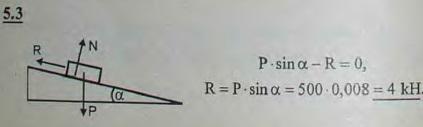 Вагон, спускающийся по уклону в 0,008, достигнув некоторой определенной скорости, движется затем равномерно. Определи..., Задача 2773, Теоретическая механика