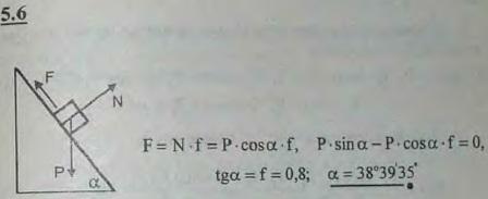 Найти угол естественного откоса земляного грунта, если коэффициент трения для этого грунта f=0,8. Углом естественного откоса наз..., Задача 2776, Теоретическая механика
