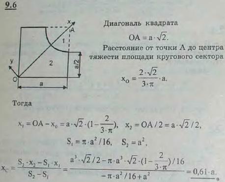 Найти координаты центра тяжести фигуры, из..., Задача 2894, Теоретическая механика