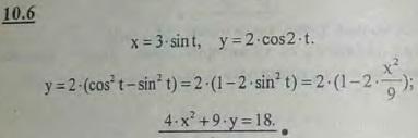Движение точки, описывающей фигуру Лиссажу, задается уравнениями x=3 sin t, y=2 cos 2t (t — в секундах)..., Задача 2921, Теоретическая механика