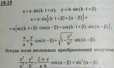 Определить траекторию точки, совершающей одновременно два гармонических колебания равной частоты, но разных а..., Задача 2925, Теоретическая механика