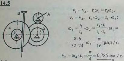 В механизме домкрата при вращении рукоятки A начинают вращаться шестерни 1, 2, 3, 4 и 5, которые приводят..., Задача 3021, Теоретическая механика