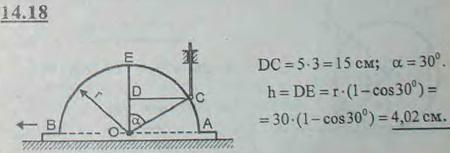 Найти, на какую длину опускается стержень, опирающийся своим концом о круговой контур радиуса r=30 см кулака, движущегося возвратн..., Задача 3034, Теоретическая механика