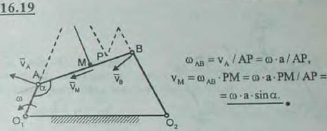 Стержни O1A и O2B, соединенные со стержнем AB посредством шарниров A и B, могут вращаться вокруг неподвижных точек O1 и O2, оставаясь в одной п..., Задача 3064, Теоретическая механика