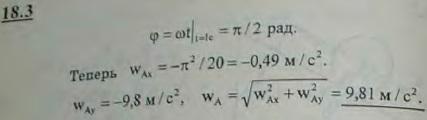 Сохранив условие предыдущей задачи, определить ускорение т..., Задача 3100, Теоретическая механика