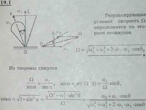 Ось z волчка равномерно описывает вокруг вертикали круговой конус с углом раствора 2θ. Угловая скорость вращения оси волчка вокруг оси ζ равн..., Задача 3139, Теоретическая механика