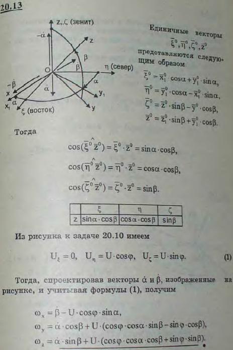 Гироскоп направления установлен в кардановом подвесе. Система координат x1y1z1 связана с внешней рамкой (ось вращения вертикальна), система xyz скреплена с внутренней рамкой (ось x вращения ее горизонтальна), ось z которой является одн..., Задача 3166, Теоретическая механика