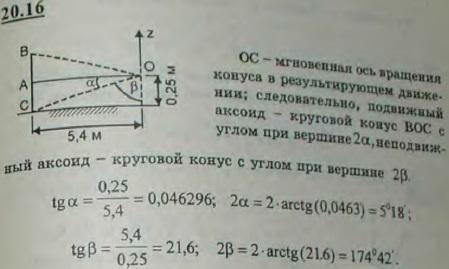 Найти подвижный и неподвижный аксоиды внешнего колеса вагона, катящегося по горизонтальному пути, средний радиус кривизны которо..., Задача 3169, Теоретическая механика