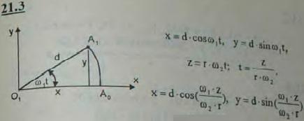 При вращении поворотного крана вокруг оси O1O2 с постоянной угловой скоростью ω1 груз A поднимается вверх посредством каната, навернутого на ..., Задача 3174, Теоретическая механика