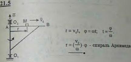 Стрела AB поворотного крана вращается вокруг оси O1O2 с постоянной угловой скоростью ω. По горизонтальной стреле от A к B движется ..., Задача 3176, Теоретическая механика