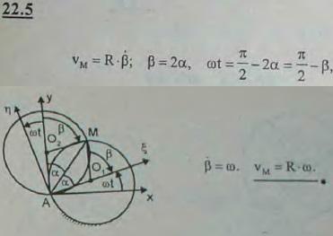 Проволочная окружность вращается в своей плоскости относительно неподвижного шарнира O с постоянной угловой скоростью ω. Как бу..., Задача 3191, Теоретическая механика