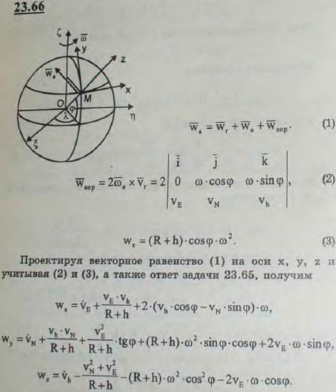 В условиях предыдущей задачи определить составляющие абсолютного ускорен..., Задача 3279, Теоретическая механика