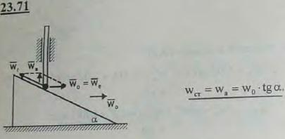 Стержень скользит в вертикальных направляющих, опираясь нижним концом на гладкую наклонную поверхность тр..., Задача 3284, Теоретическая механика