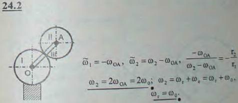 Найти относительную и абсолютную угловые скорости зубчатого колеса II радиуса r, катящегося по непод..., Задача 3286, Теоретическая механика