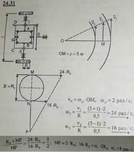 При движении автомобиля по закругленному пути внешние колеса автомобиля, проходя больший путь, должны вращаться быстрее внутренних колес, проходящих меньший путь. Во избежание поломки задней ведущей оси автомобиля применяется зубчатая передача, называемая дифференциальной и имеющая следующее устройство. Задняя ось, несущая два колеса, делается из двух отдельных частей 1 и 2, на концах которых наглухо насажены два од..., Задача 3315, Теоретическая механика