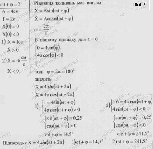 Точка совершает колебания с амплитудой А= 4 см и периодом Т=2 c. Написать уравнение этих колебаний, считая, что в момент t=0 смещения х..., Задача 6235, Физика
