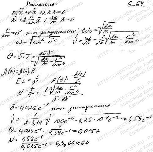 Тело массой m=1 кг находится в вязкой среде с коэффициентом сопротивления b=0,05 кг/с. С помощью двух одинаковых пружин жесткостью k=50 Н/м каждо..., Задача 6293, Физика